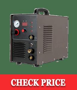 Lotos CT520D 50 AMP Air Plasma Cutter, 200 AMP Tig and Stick/MMA/ARC Welder 3 in 1 Combo Welding Machine, ½ Inch Clean Cut, Brown