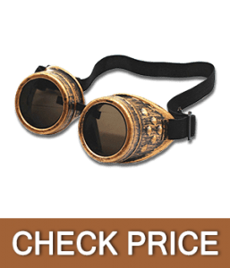TBWHL Diamond Lens Vintage Steampunk Goggles Welding Glasses