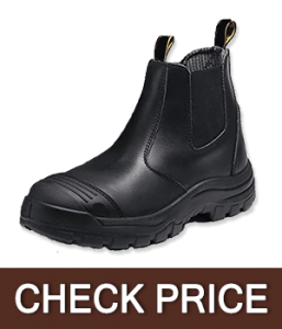 SAFETOE Unisex Wide Fit Leather Work Safety Boots