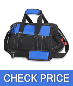 WORKPRO Wide Mouth Tool Bag with Water Proof Molded Base