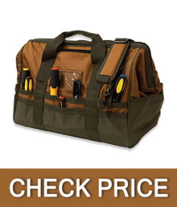 Bucket Boss Gatemouth 20 Tool Bag in Brown