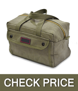 Government Issued Style Mechanics Heavy Duty Tool Bag with Brass zipper
